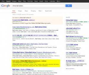 China ball valve 谷歌优化至第一页 www.seosemteam.com
